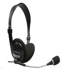 Cuffia Stereo con Microfono Mediacom cavo 180 cm jack 3,5 mm NERO M-AP855