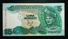 Rm5 Malaysia note (Jaffar) cross-pole aunc # 568R