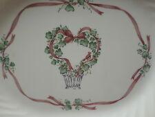"Corelle CALLAWAY HOLIDAY 12"" Oval Serving Platter Swirl Rim :-)"