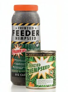 Dynamite Baits Frenzied Hempseed Hemp Seed 2.5ltr Jar ONLY NEW Carp Fishing