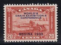CANADA NO  203, 1933 GRAIN EXHIBITION,  VF MINT H