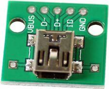 5 STK PCB convertidor adaptador 2,54 mm placa a mini USB dip Board electricidad DIY