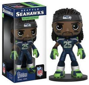 Richard Sherman Seattle Seahawks NFL Wobblers Bobblehead by FUNKO NIB Hawks