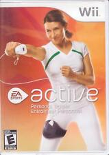2 WII NINTENDO Wii Games:  EA ACTIVE 1 & 2 - Fitness Exercise Personal Trainer