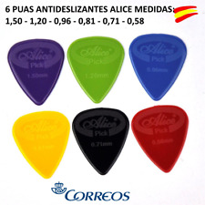 6 PUAS ANTIDESLIZANTES GUITARRA ALICE MEDIAS :0.58-0.71-0.81-0.96-1.20-1.50 mm