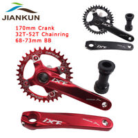 104bcd MTB Bike Chainset Crank 170 Arm &BB Narrow Wide Chainring 32-52T Crankset