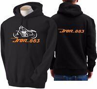 Felpa per moto Harley Davidson Iron 883 hoodie sweatshirt bike hoody sweater