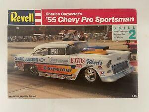 Revell's 1/25 Charles Carpenter's '55 Chevy Pro Mod  Pro Sportsman #7194 SEALED