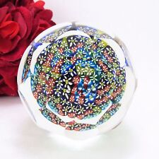 Vintage Murano glass paper weight, Multicolor fancy polish globe, classic design