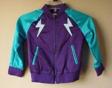 Satin Jacket Cat & Jack™ Purple Patchwork Space Lightning Bolt XS (4-5) Girls