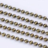 LOT de 8m - 8 METRES CHAINES à BILLES BOULES dia. 1,5mm BRONZE perles COSTAUD !