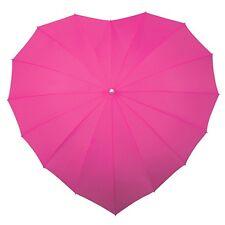 Coeur parapluie-rose fuchsia