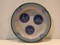 """M.A. Hadley Ashtray of Churchill Downs, Belle & City of Louisville - 9 1/2"""" Wide"""