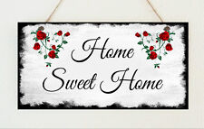 Shabby Home Sweet Home Chic Hanging Plaque Gift Present