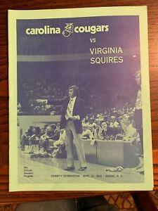 1973 VIRGINIA SQUIRES CAROLINA COUGARS ABA DR. J BASKETBALL PROGRAM NM