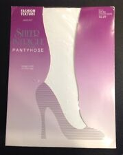 Sheer Intrigue Pantyhose Fashion Texture Swiss Dot Size Small White