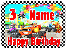 BLAZE & THE MONSTER MACHINES:Personalized Edible Cake Topper FREE SHIP in Canada