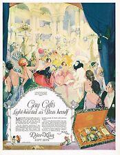 1920's BIG Vintage Djer Kiss Co. Cosmetics Paris Grand Bal Masque Art Print Ad