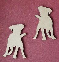 Laserschnitt Holz MDF Terrier Hund Form - Personalisiert - Basteln, Rustikal