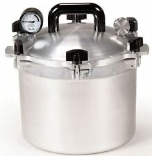 All American 910 10.5 Qt Heavy Cast Aluminum Pressure Cooker / Canner w/ DVD NEW