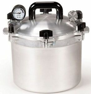 All American 910 10.5 Qt Heavy Cast Aluminum Pressure Cooker / Canner NEW