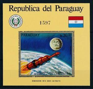 [105568] Paraguay 1972 Space travel weltraum Apollo XVI Souvenir Sheet MNH