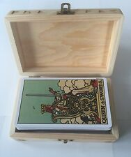 A.E. WAITE TAROT CARDS SEALED WOODEN HANDCRAFTED TAROT CARD BOX+FREE TAROT POUCH