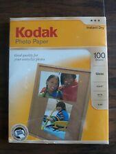 Kodak Photo Paper, 100 sheets 8.5 x 11, Glossy, Factory Sealed