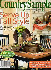 Lot of 2 Magazines: Country Sampler & Country Licing Sept 2014 NEW Home Decor
