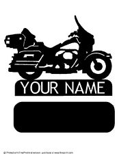 CUSTOM  HARLEY STYLE DRESSER TABLE MOUNT (YOUR NAME) METAL ART PLASMA ART