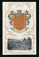 Military Channel Islands JERSEY Glo'ster Regiment Heraldic c1900's PPC