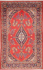 Vintage Traditional Floral Mint Condition Kashmar Ardakan Persian Area Rug 4x6ft