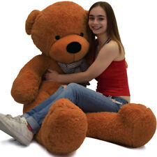 "Giant Teddy Bear Huge Plush Stuffed Animal Toy 55"" Valentine Birthday Gift Brown"