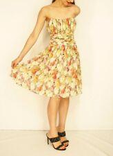 #savingglory TED BAKER Silk Strapless Cocktail Party Dress 3 Au 12 US 8 Eu 40