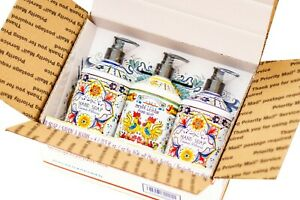 3 pack NEW Italian Deruta Hand Soap 2 Coconut Hibiscus & 1 Lemon, Home & Body Co
