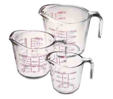 measuring cup anchor 3pcs 1, 2,4 Cup Glass Measuring cups made in USA crazy sale