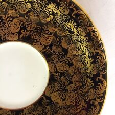 LOVELY AYNSLEY BLACK GOLD ORPHAN SAUCER, GREAT CONDITION, C869