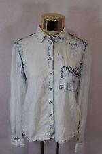 Women's Garage Boyfriend Blue Washed Long Sleeved Shirt (XS)