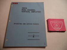 Hewlett Packard 1801A Dual Channel Vertical Amplifier Operating & Service Manual