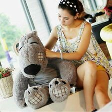 80cm Giant Huge Grey Unlucky Bears Big Stuffed Animals Plush Toy Pillow Gift Hot