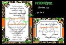50 Camo Wetland Grass Hunt Deer Duck Hunting Custom Wedding Invitations Set 118