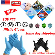 100pcs Nitrile gloves premium Hand Protection sizes S/ M/ L/ XL * FAST SHIPPING*