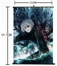 """Hot Japan Anime Cosplay Tokyo Ghoul Art Poster Home Decor Wall Scroll 8""""×12"""" 001"""