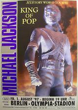MICHAEL JACKSON CONCERT TOUR POSTER 1997 HISTORY