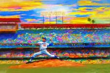 Sports Baseball Art Sandy Koufax, Dodgers, Dodger Stadium, Chavez Ravine, LA