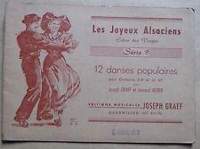 partition LES JOYEUX ALSACIENS série 9 - danses populaires - contre-basse mi b