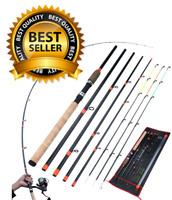 Fishing Pole Carbon Fiber Rod Spinning Travel Rod Carp Fishing Tackle 3m Hard US