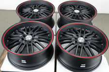17 4x100 4x114.3 Matte Black Rims Fits Versa Mini Cooper Integra Tiburon Wheels