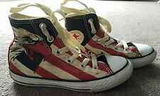 Converse All Star High Top size 13 youth Eagle Red cream blue Stripe Sneakers