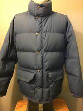 Vtg 70s 80s North Face Down Jacket Mens L Tnf Zip Puffer Parka Coat Brown Label